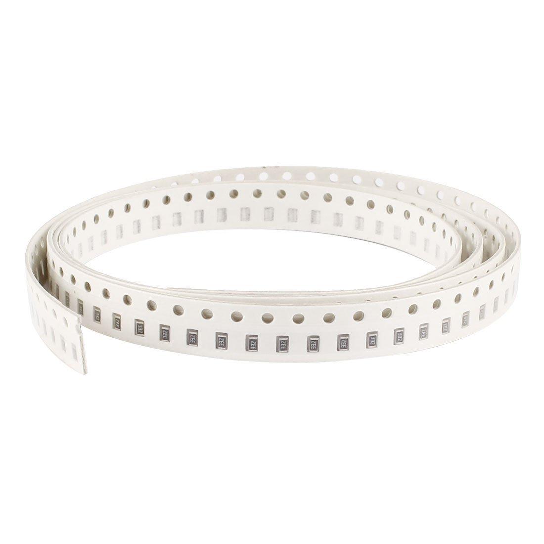 Sourcingmap/® 200 Pcs 0805 3K3 R/ésistance 3K3ohm 5/% Mince Film SMT SMD Chip R/ésistances