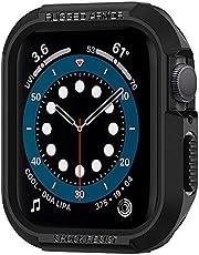 Spigen Rugged Armor etui kompatybilne z Apple Watch serii 7 41mm 6 SE 5 4 40mm - czarne