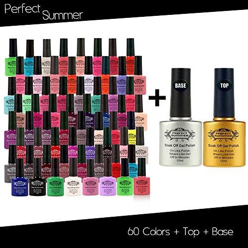 Perfect Summer 60 pcs Nobility Colors Gel Nail Polish + Clea