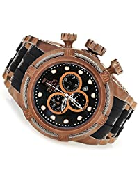 Invicta Reserve Mens Jason Taylor Bolt Zeus Rose Gold Plated Distressed Swiss Chronograph Strap Watch