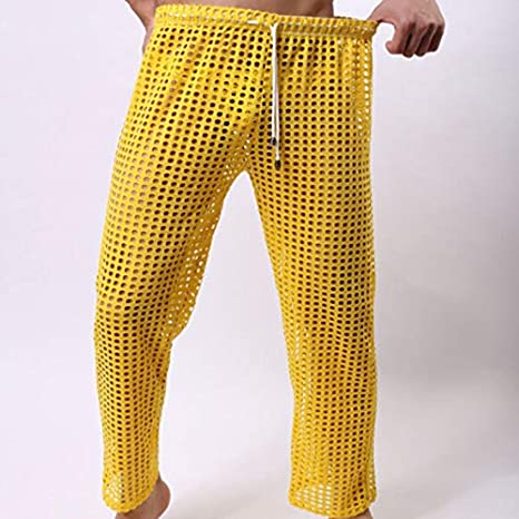 38cfa8eb1c1f Image Unavailable. Image not available for. Color  Daisy Storee Sexy Men  Pants Fashion Cute Sweatpants Joggers Home Harem Pant Gay Sexy Clothing See