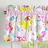 Carousel Designs Watercolor Floral Window Valance Rod Pocket