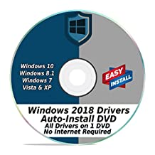 Windows Driver Software 2018 Automatic Easy Install Updater DVD Disc for Windows 10, 8, 7, Vista, XP | Full Computers Support Dell HP Toshiba Sony Asus Lenovo Gateway Acer etc.