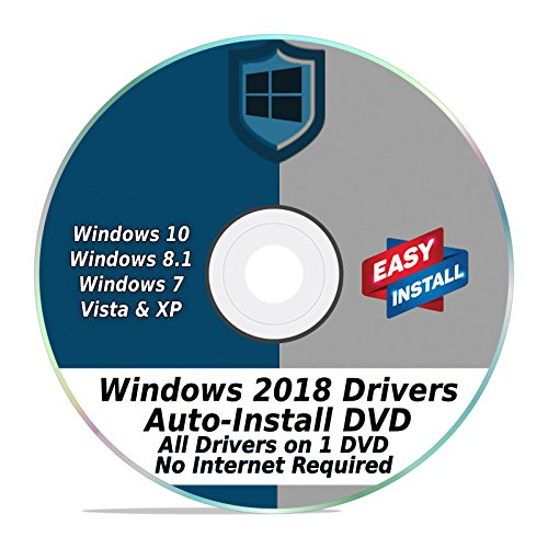 Windows Driver Software 2018 Automatic Easy Install Updater DVD Disc for Windows 10, 8, 7, Vista, & XP | Full Computers Support Dell HP Toshiba Sony Asus Lenovo Gateway Acer etc. (Windows Vista Gateway)