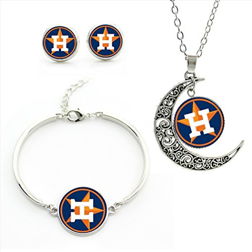 BSHOA Houston Astros team logo set -necklace, bracelet, earrings- M05