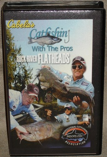 (Cabela's Catfishing with the Pros Rock River Flatheads, Cat Fishing Assocation Video, VHS)