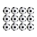 Pack of 12Pcs Table Soccer Foosballs Replacement balls Mini Black and White 36mm official foosball