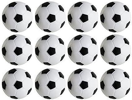 4 Soccer Foosballs Black /& White Engraved Table Soccer Balls