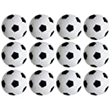 36mm Table Soccer Foosballs Replacements Mini Black and White Soccer Balls - Set of 12 by Super Z Outlet®