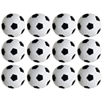 TGA Sports Table Soccer Foosballs Replacements Mini Black and White Soccer Balls - Set of 12