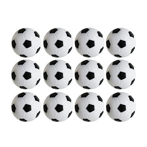 36mm Table Soccer Foosballs Replacements Mini Black and White Soccer Balls - Set of 12 by Super Z Outlet¨