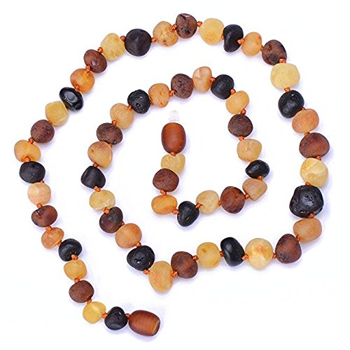 Raw Multicolored Amber Handmade Necklace for Adult - Authentic Baltic Amber - Handmade Amber Jewelry