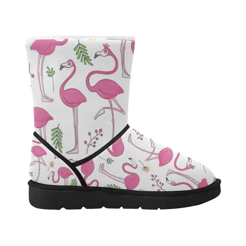 InterestPrint Snow Boots Star Field Low Top Winter Outdoor Warm Mid Calf Shoes for Women Girls Adults