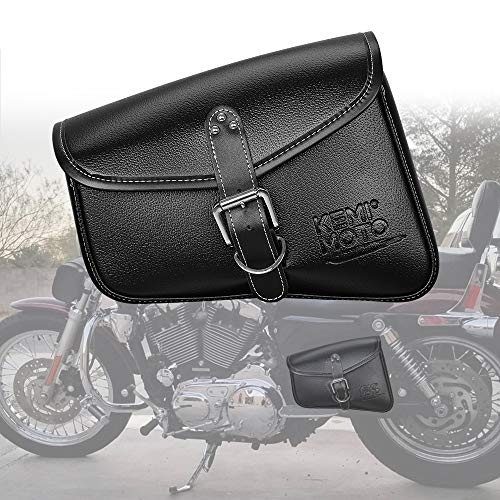 - Motorcycle Swingarm Bag Side Tool Bags for Sportster XL 883 1200 Night Rod Special Yamaha
