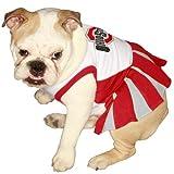 Pets First NCAA University of Ohio Buckeyes Cheerleader Dog Outfit, Medium, My Pet Supplies