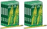 IUYE Ticonderoga Wood-Cased 2 HB Pencils, Box of 96, Yellow 2 Pack
