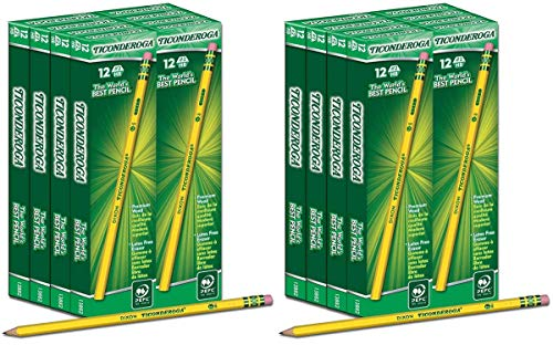 IUYE Ticonderoga Wood-Cased 2 HB Pencils, Box of 96, Yellow 2 Pack by  (Image #4)