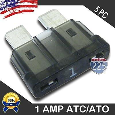 5 Pack 1 AMP ATC/ATO Standard Regular Fuse Blade 1A Car Truck Boat Marine RV