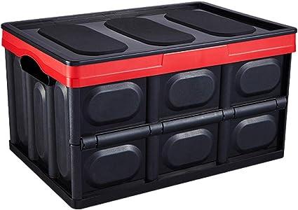Maletero del coche organizador de viaje camping almacenamiento caja plegable contenedor de almacenamiento de carga de auto no deslizante ideal tronco portátil: Amazon.es: Coche y moto