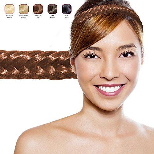 Hollywood Hair - Hairband with Fish Tail Plaited Hair (Auburn Red)
