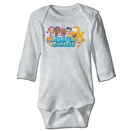 Baby Kids 100% Cotton Long Sleeve Onesies Toddler Bodysuit Bubble Guppies Babysuits Ash Size 24 Months ()