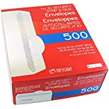Top Flight PSTF10NWT #10 Envelopes, Strip & Seal, Security Tinted, White Paper, 24 lb, 500 Count