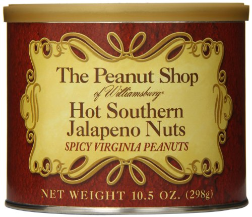 The Peanut Shop of Williamsburg Hot Southern Jalapeno Nuts, 10.5 (Nut Roasting Spices)