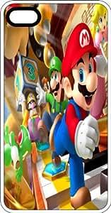 Mario Luigi Wario Yoshi Bowser Princess Clear Rubber Case for Apple iPhone 5 or iPhone 5s