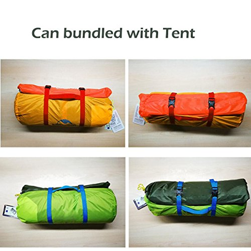 Azurec Outdoor Waterproof Camping Tent Footprint Tarp Groundsheet Blanket Mat for Sunshade Shelter Canopy Shade Rain (Blue, 84.6 x 84.6 inches)