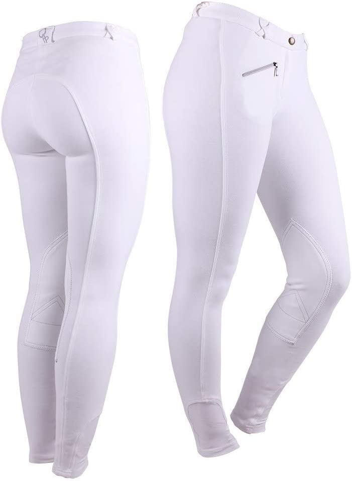 20 UK Countrypride QHP Ladies Breeches with Fabric Knee Patch Amazing Fit Size 8 UK