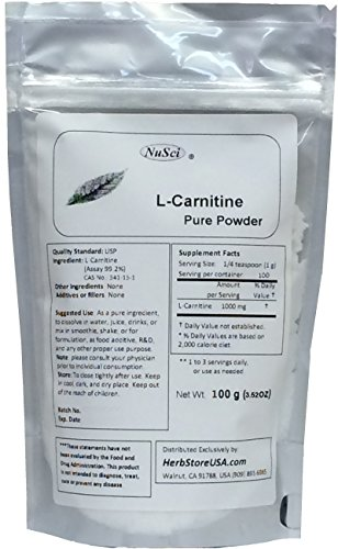 NuSci L Carnitine Pure Powder Energy