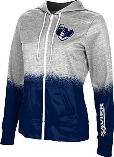 ProSphere Xavier University Girls' Full Zip Hoodie - Spray Over FEC8 - University Xavier Fabric Fleece
