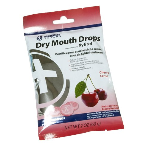 Hager Pharma Dry Mouth Drops, Cherry, 2 Ounce -