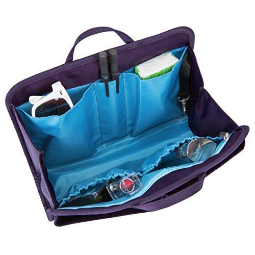 Travelon Women's Rfid Blocking Classic Organizer-Large Travel Purse, Purple, One (Microfiber Travel Purse)