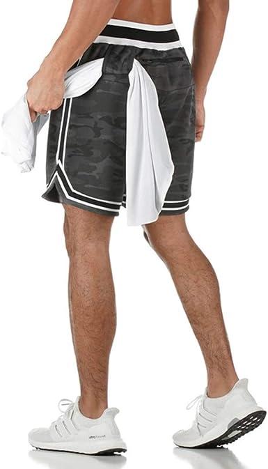 Men/'s Sport Shorts Gym Basketball Short Pants Pocket Drawstring Jogger Running