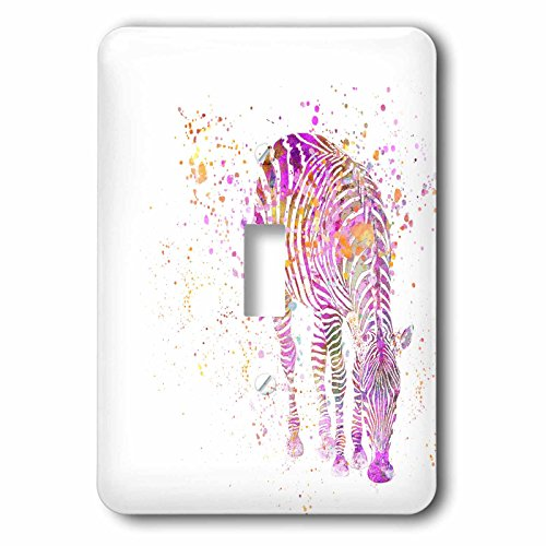 3dRose Andrea Haase Animals Illustration - Artsy zebra illustration - Light Switch Covers - single toggle switch (lsp_264756_1) by 3dRose