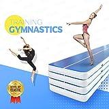 Happybuy Inflatable Gymnastics Tumbling Mat Air Tumbling Track Air Floor Mat Home Use/Cheerleading/Beach/Park