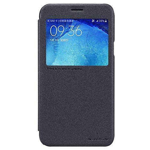 Samsung Galaxy J5 5.0-Inch Funda - IVSO Slim Armor Case Funda para Samsung Galaxy J5 Smartphone (Slim Book Series - Negro)