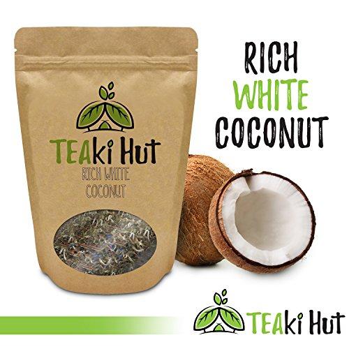 TEAki Hut Rich White Coconut Tea 2oz | Organic Loose Leaf | Superior Aroma and Flavor | Light Body | Smooth Creamy Finish