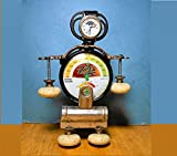 FAIR WEATHER ROBOT Handmade Steampunk Humidity Monitor, Thermometer, Found Objects, Repurpose, Human & Plant Buddy, One of a Kind!
