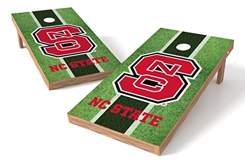 (Wild Sports NCAA College North Carolina State Wolfpack 2' x 4' Field Authentic Cornhole Game Set)