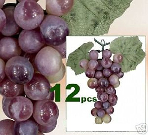 LOT OF 612 Grapes Artificial Fruit Home Garden Decor RG by Black Decor Home