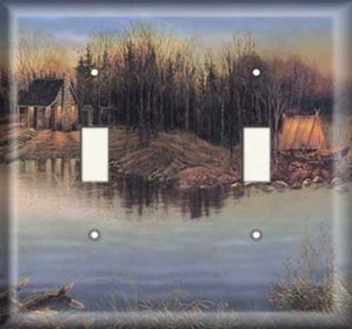 - Double Light Switchplate Cover - Cottage Creek