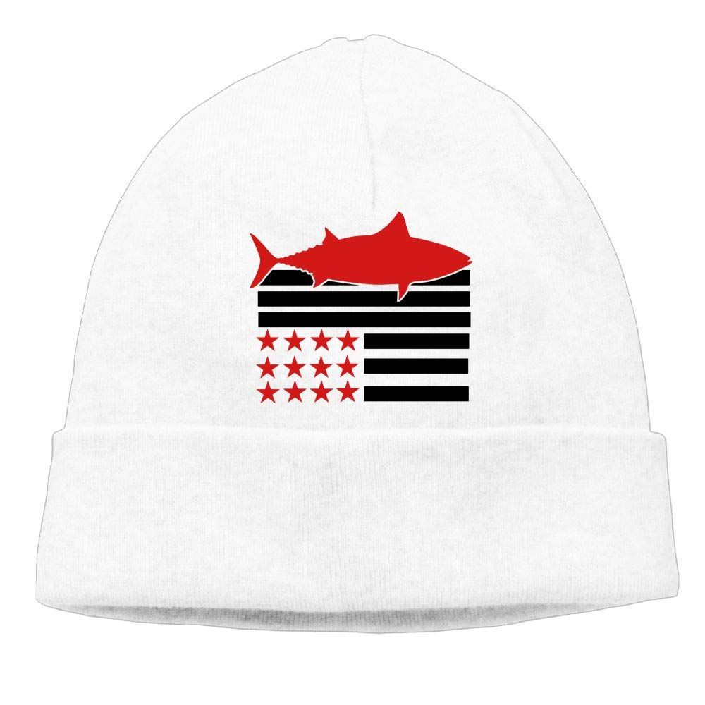 Michgton American Flag Tuna Beanie Cap Knitted Caps Male