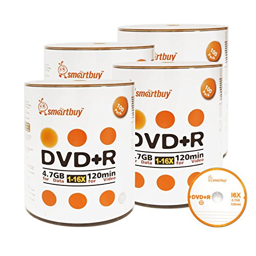 Smart Buy 400 Pack DVD+R 4.7gb 16x Logo Blank Data Video Movie Recordable Disc, 400 Disc 400pk by Smart Buy