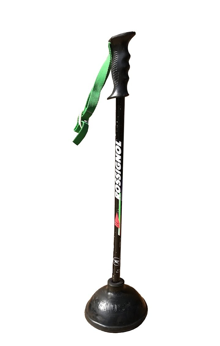 Ski Pole Bathroom Plunger