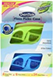 Dentek Travel Case with Flossers in Tray, 4 Count (Pack of 6)