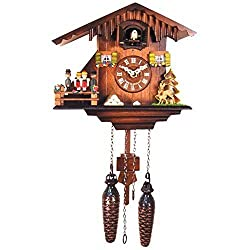 8 Inch Black Forest Woodchopper Family Cuckoo Clock by Alexander Taron Importer