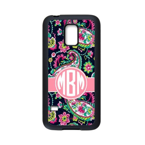 iFUOFF Hot Gift Paisley Bradley Pattern Pink Monogram Initials Cover Case & Dust Plug for - Samsung N9100 GALAXY Note 4