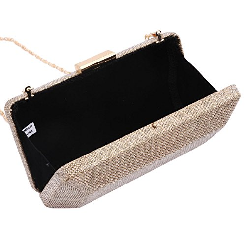 Box Evening Regular Womens Occasion Formal Gold Bag Damara for qPBEWWw